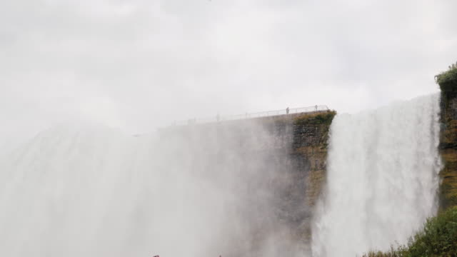 Niagara Falls. Bottom view on a cloudy day video