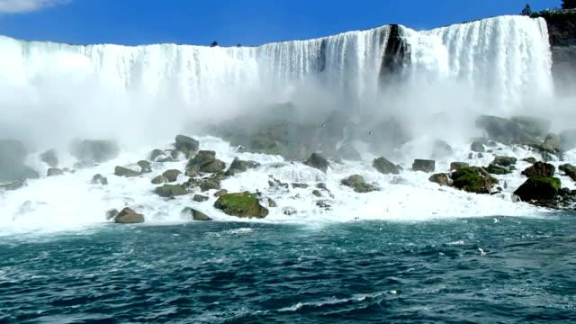 niagara falls, seen from the bottom - horseshoe stock videos & royalty-free footage