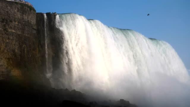 niagara falls summer time. strong water stream - horseshoe stock videos & royalty-free footage