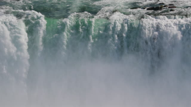 niagara falls uhd 4k video landscape slow motion - водопад стоковые видео и кадры b-roll