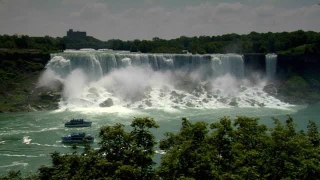 vídeos de stock, filmes e b-roll de niagara falls-lado - rio niagara