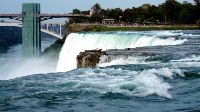 niagara falls vattenfall - new york, usa - nationalpark bildbanksvideor och videomaterial från bakom kulisserna