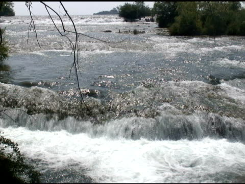 vídeos de stock, filmes e b-roll de niagara cabedal rapids 9-ntsc - rio niagara