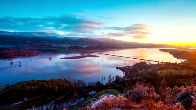 Nian hu Lake, Yunnan province, China video