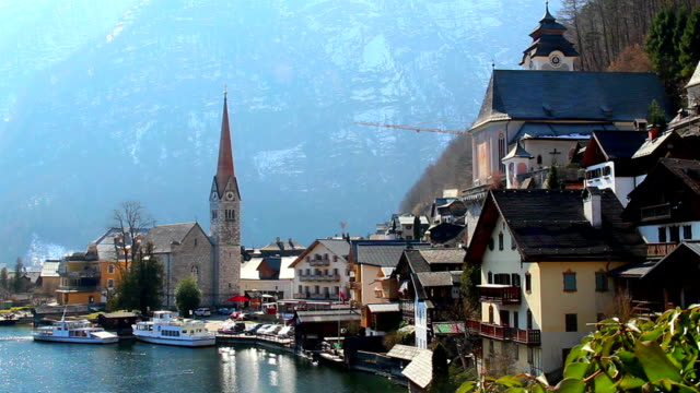 Nice mountain village in Austrian Alps, fantastic house of dream video