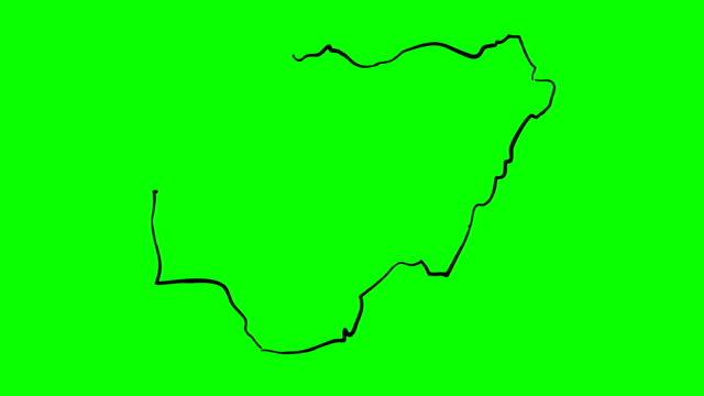 nigeria drawing colored map on green screen isolated whiteboard - nigeria video stock e b–roll