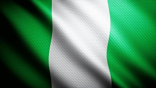 Nigeria Flag 4K video