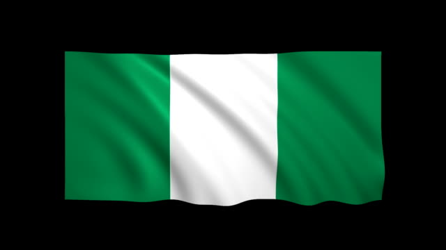 nigeria flag loopable alpha included - stock video - nigeria video stock e b–roll
