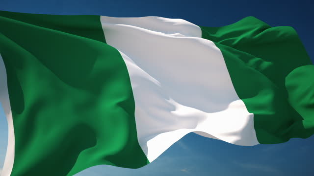 vídeos de stock e filmes b-roll de 4 k-loopable bandeira da nigéria - independência