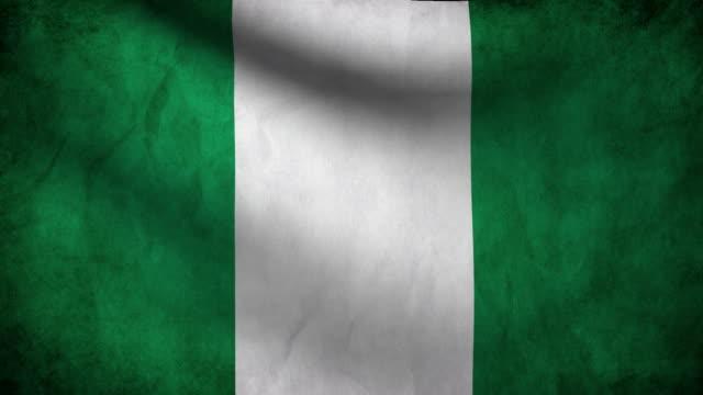 Nigeria flag. video