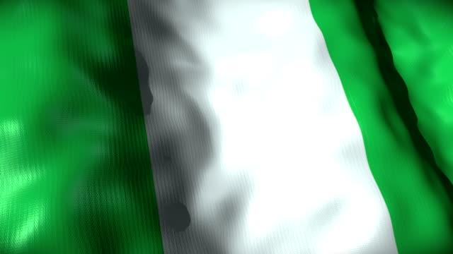 Nigeria Flag waving, looping video