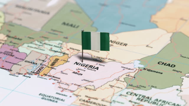 nigeria with national flag - nigeria video stock e b–roll