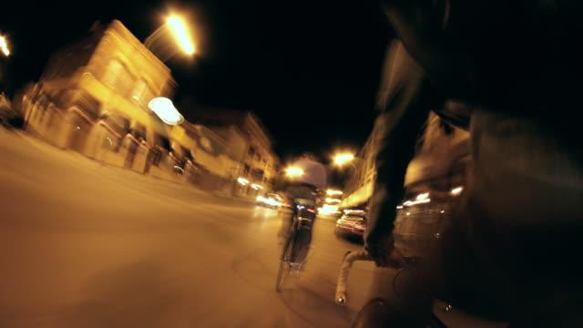 Night Bike Ride Seamless Loop Time Lapse video