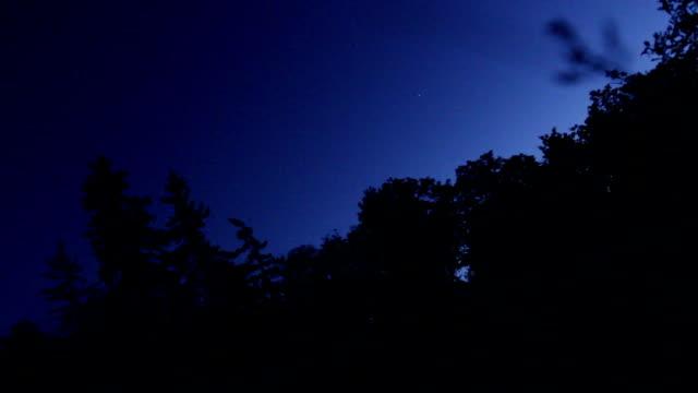 cielo blu notte - davanzale video stock e b–roll