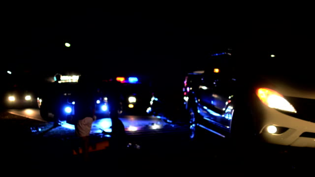 Night car crash Night car crash crime scene stock videos & royalty-free footage