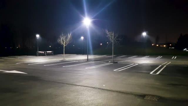 Night car parking
