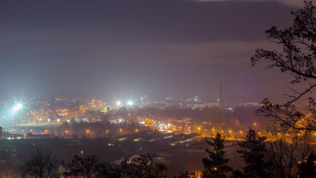 night city, 4K panoramic time-lapse, Vilnius Lithuania video