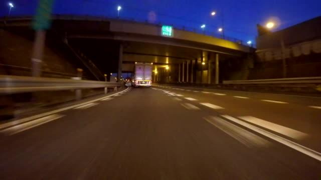 Night city drive video