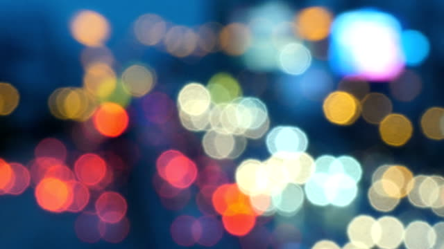 night city is defocused and typical city noise - soft focus video stock e b–roll
