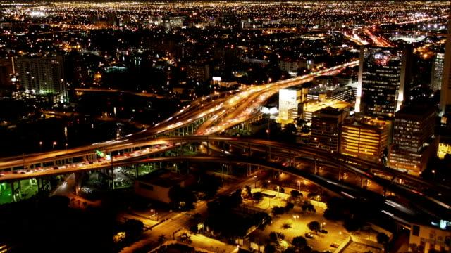 Night City, Miami. Time lapse video