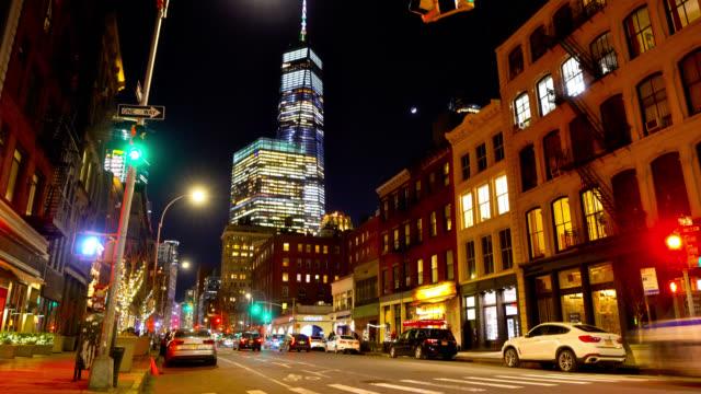 Nachtstadt. New York. im Stadtzentrum. Manhattan – Video