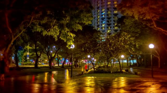 Night city park. video