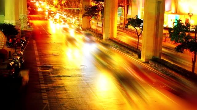 Night city street video