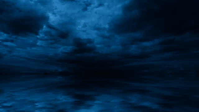 Night Clouds Time lapse night cumulus cloud background. Seamless loop. loopable moving image stock videos & royalty-free footage