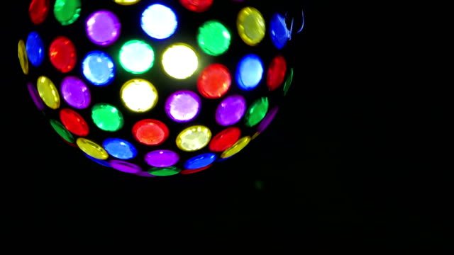 night club Party lights disco ball. colorful dance floor lights video