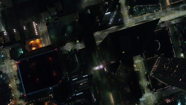 Night Downtown of Los Angeles / View From Above video