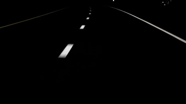 Night Drive Curved Lines HD video