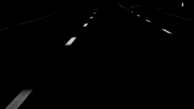Night Drive White Lines HD video