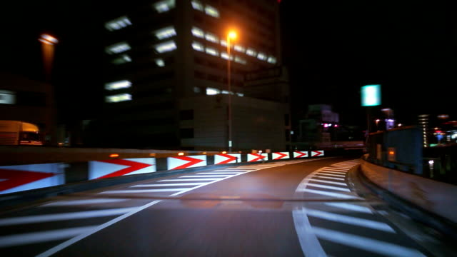 Night driving in Tokyo ,timelapse video