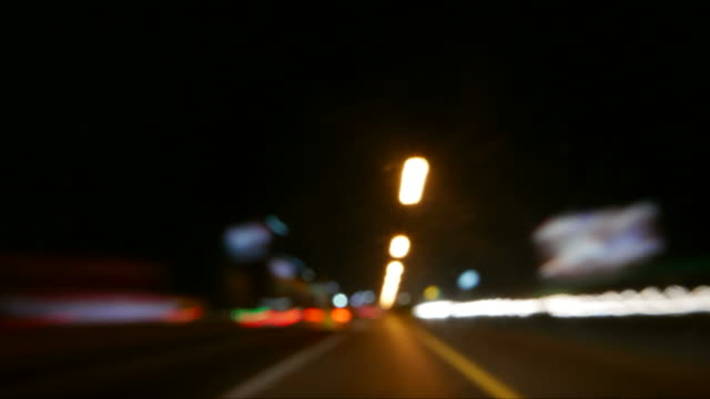 Night driving time lapse video