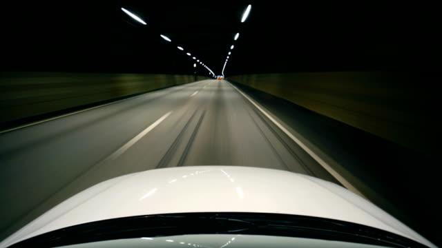 night driving urban city road video