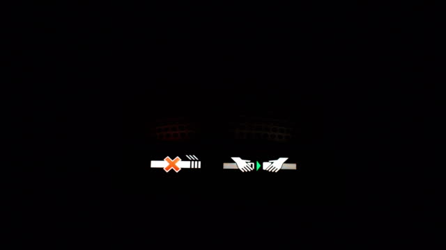 Night Flight Airplane Seatbelt or Safetybelt signs, symbol or icon is turn on