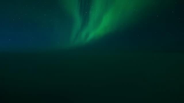 Night Flight Aurora Borealis Cockpit POV Timelapse