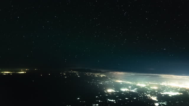 Night Flight Cockpit POV Timelapse