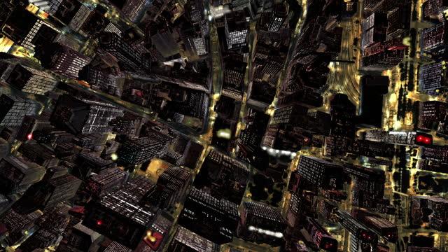 vídeos de stock, filmes e b-roll de voo noturno de nova york para orbitar a terra. loopable. - europa locais geográficos