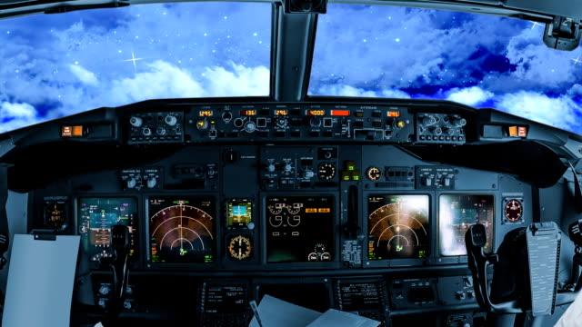 Night flight in the sky video