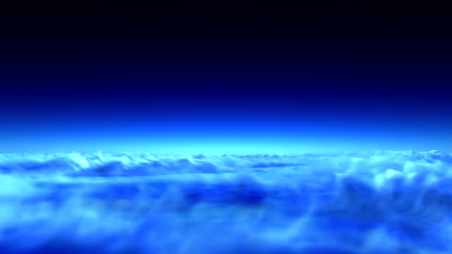 night flight over clouds video