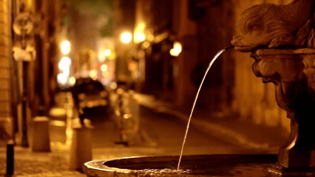 vidéos et rushes de la fontaine de nuit - aix en provence