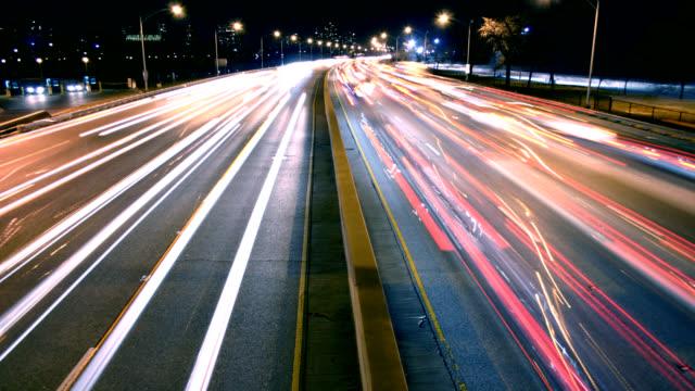 Night Highway Traffic video
