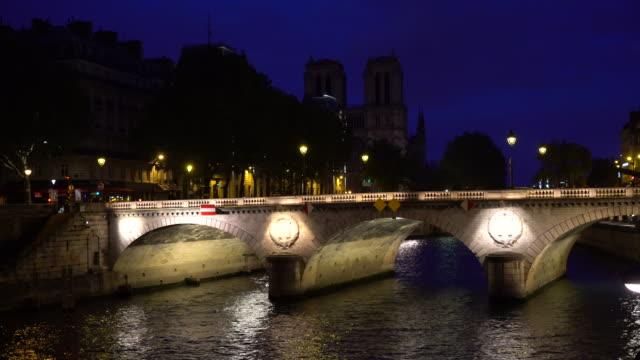 Night illuminated view of the Saint-Michel