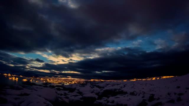 北極の 4 K の夜。 ビデオ