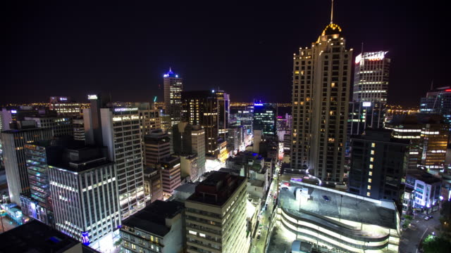 Night in Auckland City Centre - Time Lapse video
