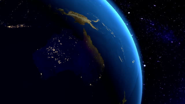 Night in Australia from space video