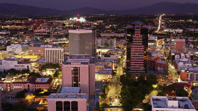 Night in Tucson - Aerial View