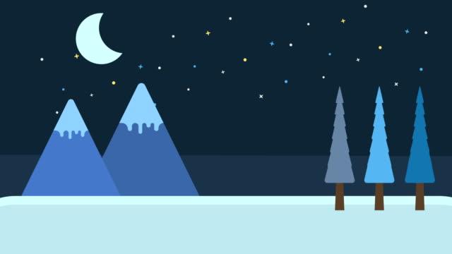 stockvideo's en b-roll-footage met nacht loop achtergrond - christmas cabin