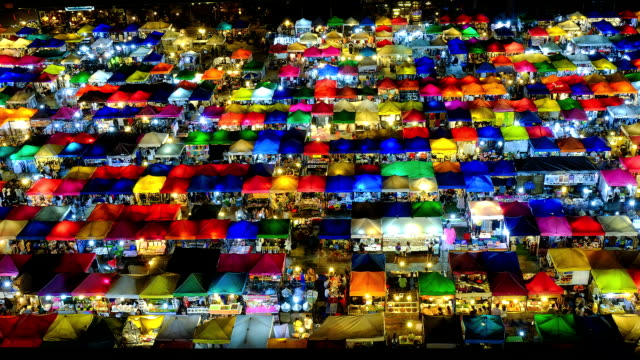 Night market in bangkok,thailand video